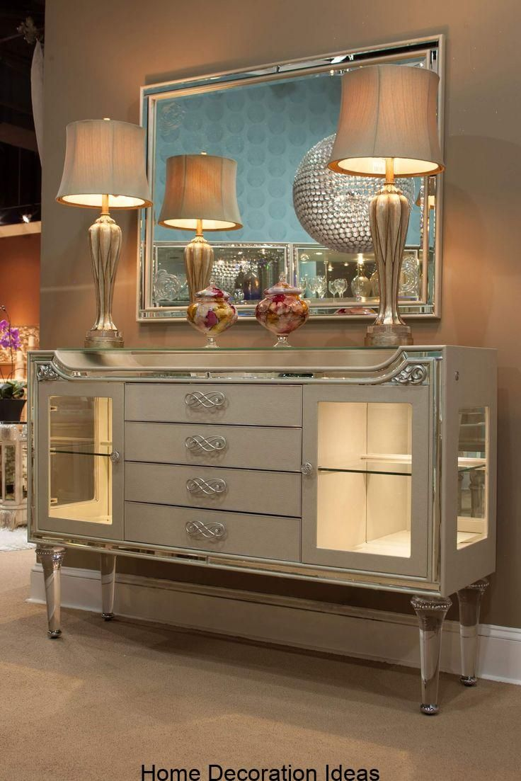 Michael Amini Bel Air Park Champagne Sideboard Champagne