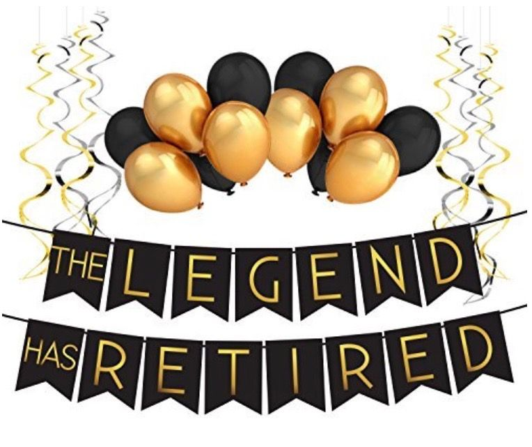 Perfect Black Gold Male Retirement Party Banner Can T Wait To