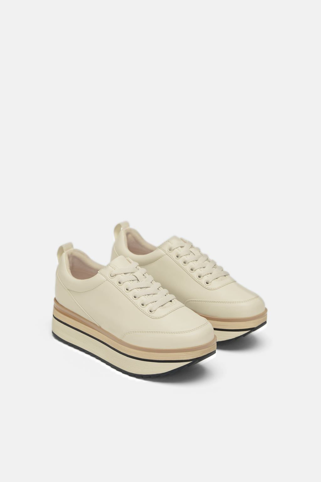 1a6d47531f Image 1 of TWO-TONE PLATFORM SNEAKERS from Zara | Shoes in 2019 ...
