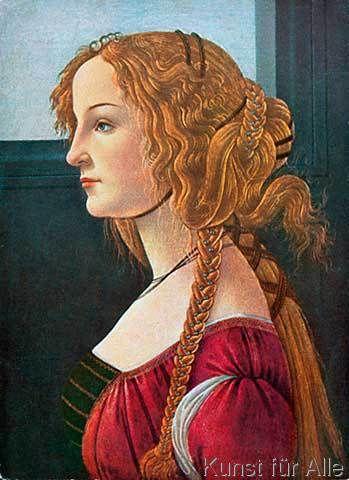 Sandro Botticelli - Profilbildnis einer jungen Frau