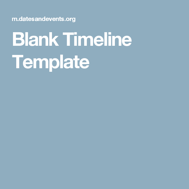 Blank Timeline Template  Baby Items    Timeline