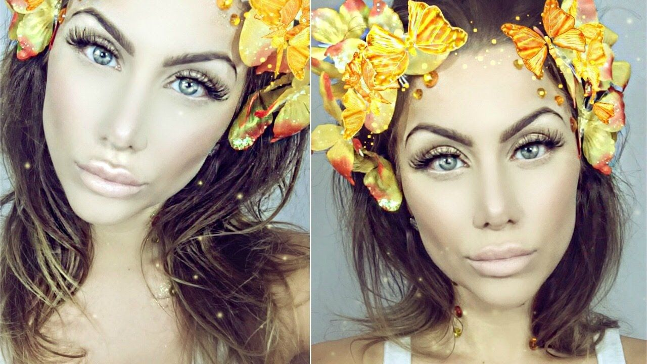 SNAPCHAT filter butterfly crown MAKEUP TUTORIAL