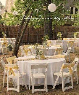 Our Backyard Wedding reception on a tight budget ...