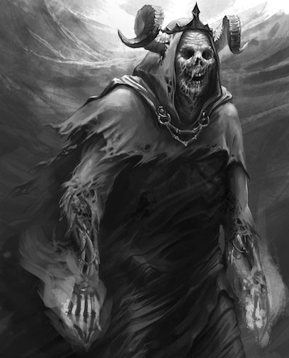 In Fantasy Fiction, A Lich (from Old English Līċ Meaning
