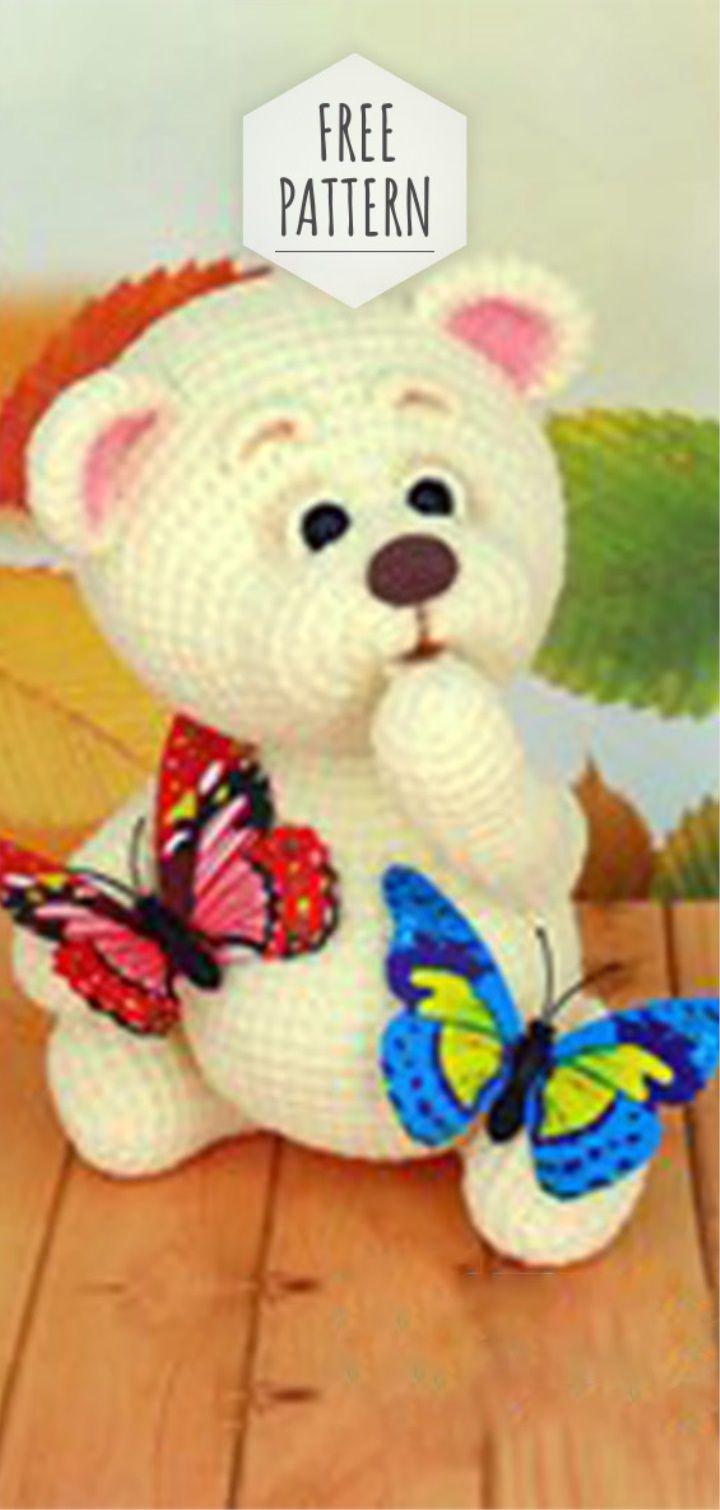 Amigurumi Cute Bear Pattern #crochettoysanddolls