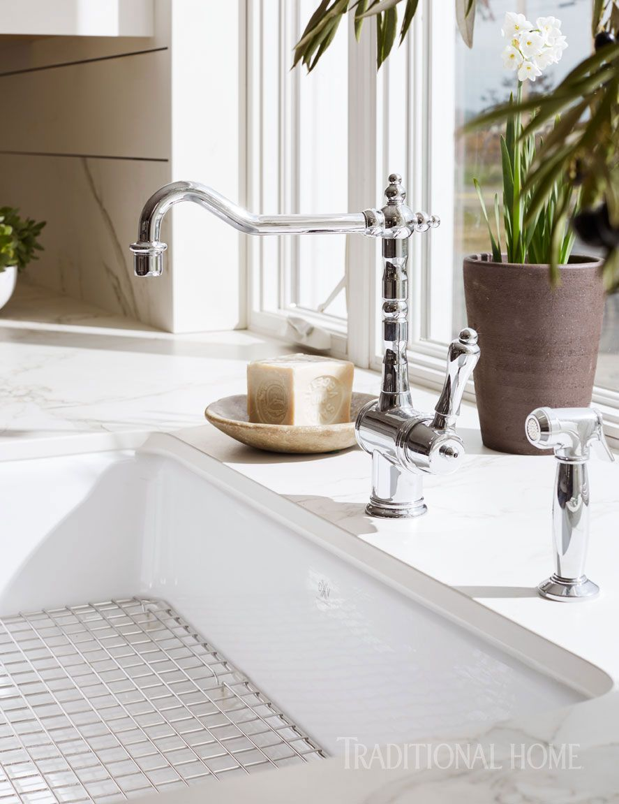 A U201cVictorianu201d Kitchen Faucet From DXV By American Standard Nods To  Traditional Style.   Photo: John Merkl / Design: Marie Flanigan
