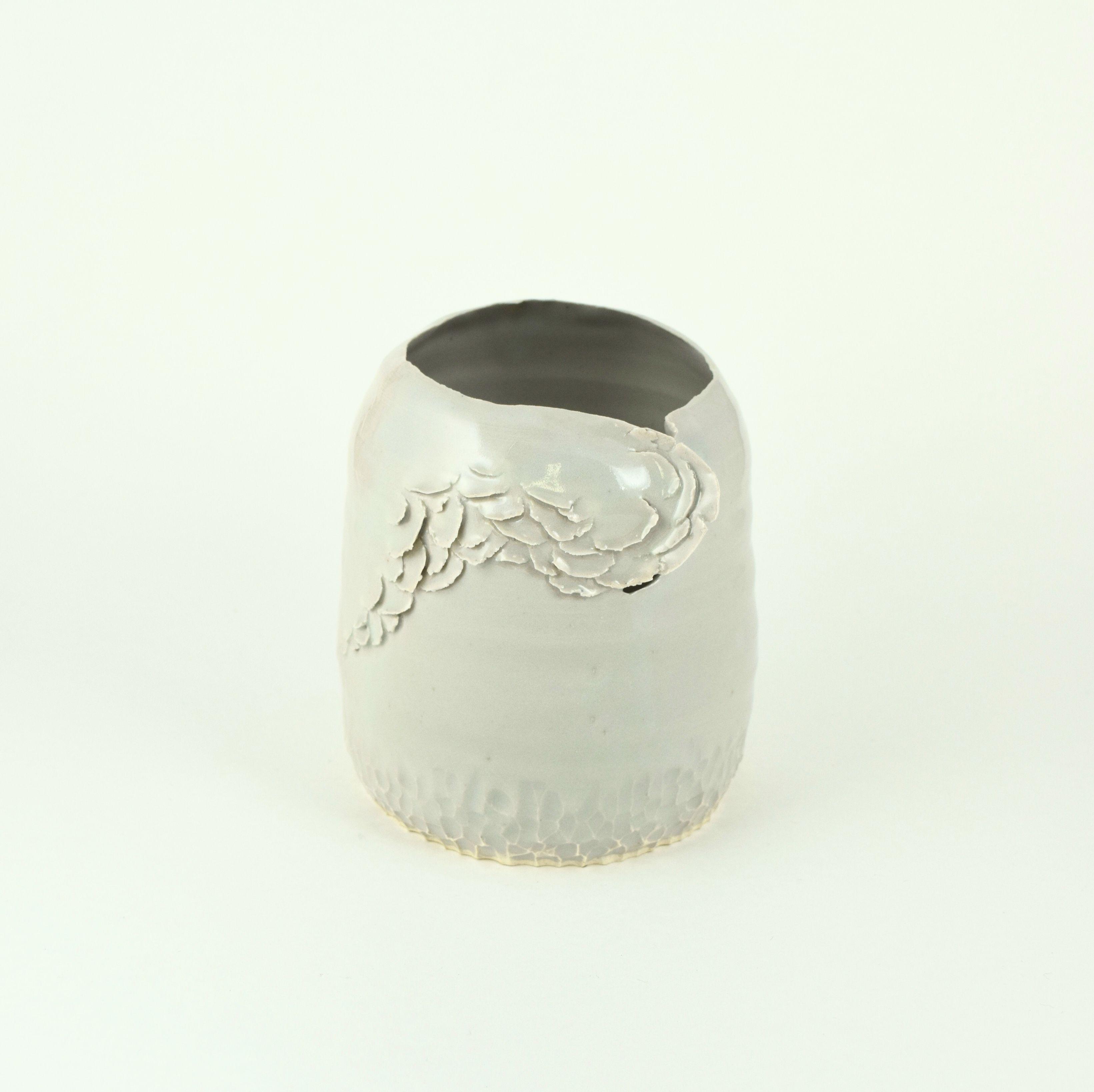 Whimsical porcelain vessel 💜@FrayedAndFragile