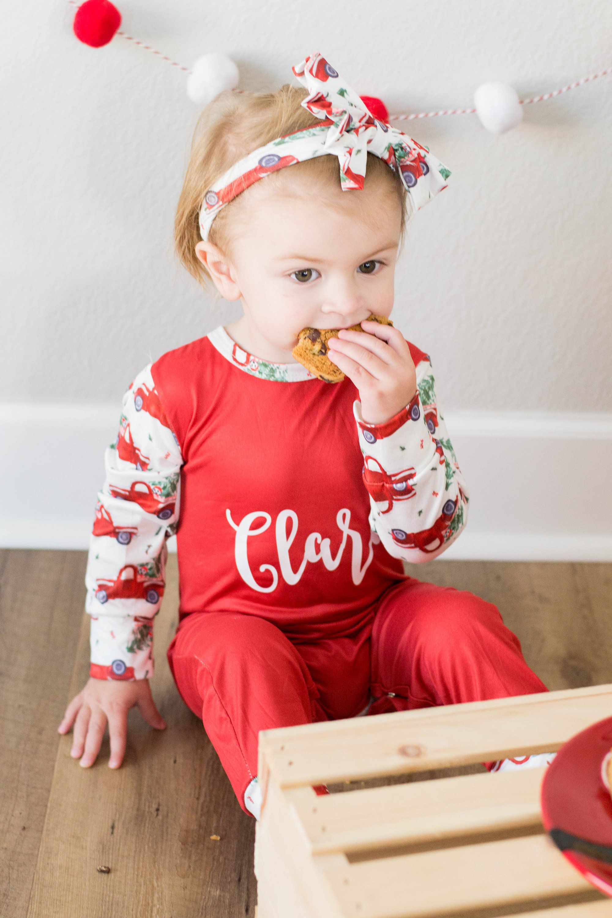 f778aa5b1 ... my #etsy shop: Baby girl Christmas Outfit Baby's First Christmas  Personalized outfit Christmas Romper Christmas Present Christmas Pajamas  Christmas PJs