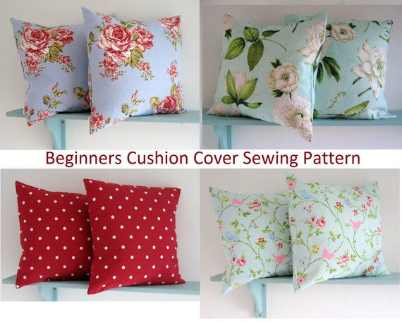 PDF Sewing Pattern make a simple envelope Cushion Cover | Sewing ...