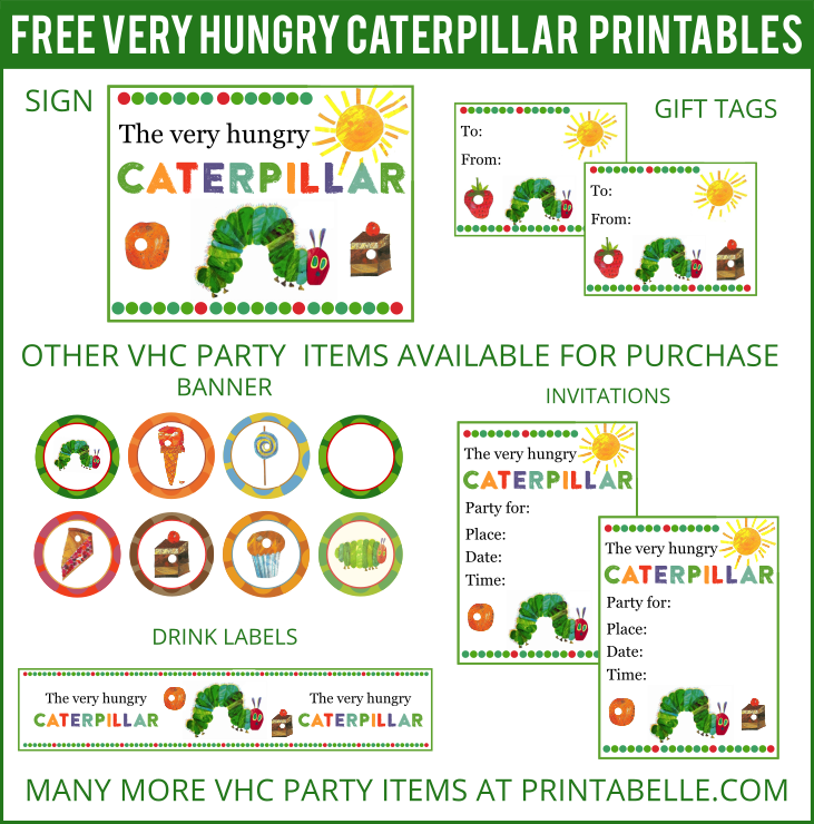 Free Very Hungry Caterpillar Printables and more! | Hungry ...