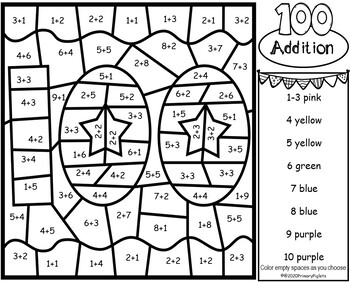 100th Day Of School Color By Number Addition To Ten Worksheets Tpt In 2021 Kindergarten Math Activities 100 Days Of School Subtraction Activities