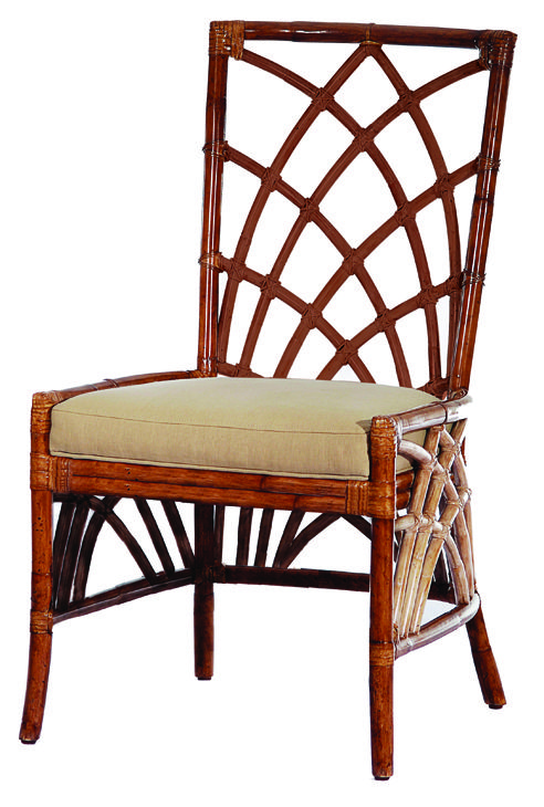 Cathedral Side Chair, rattan by David Francis