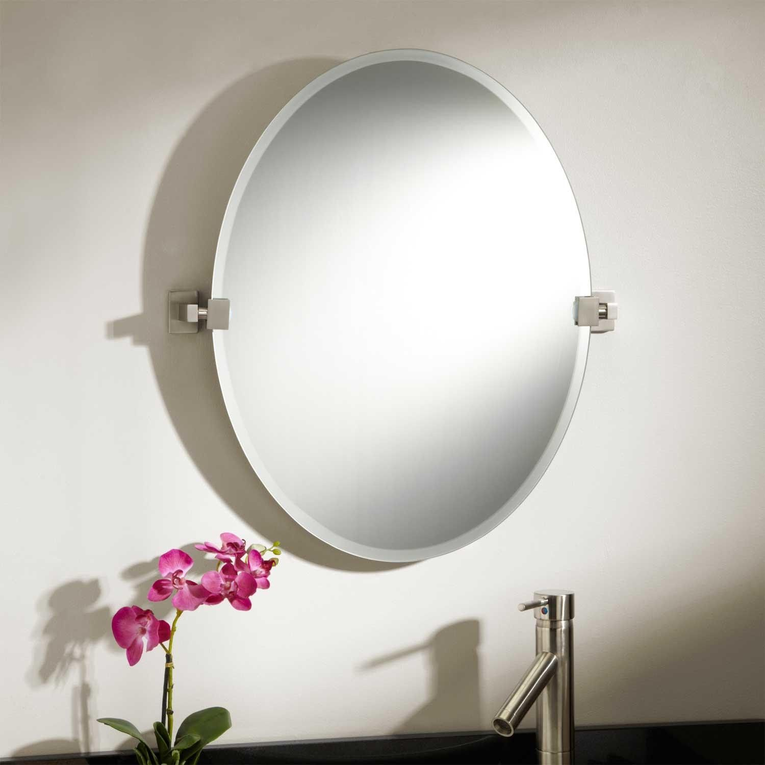 24 Helsinki Oval Tilting Mirror Bathroom Mirror Round Mirror Bathroom Mirror