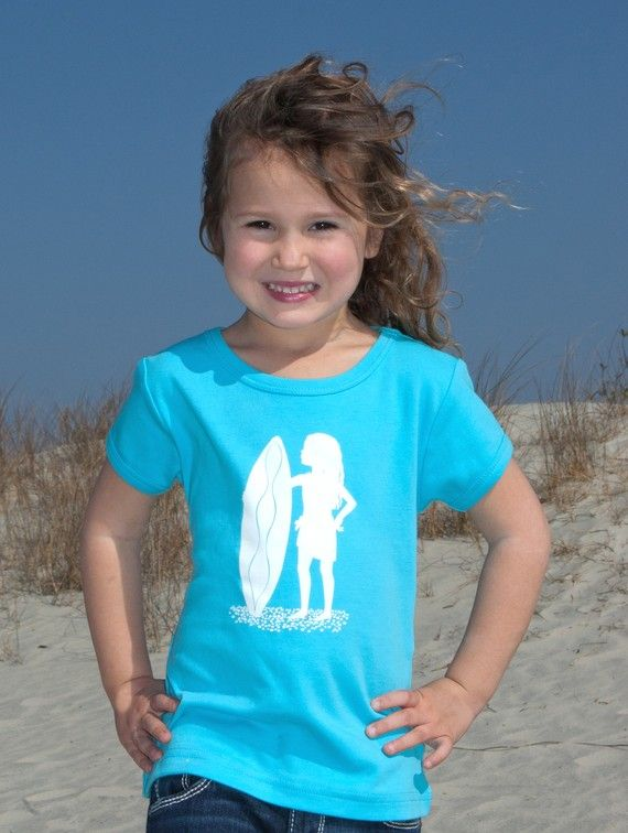 Sassy Surfer Short Sleeved Nostalgic Graphic by elizabethhorton, $20.00