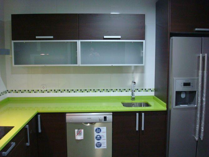 diseño de #cocinas Diseño de cocinas en Ciempozuelos Isla wengue con ...