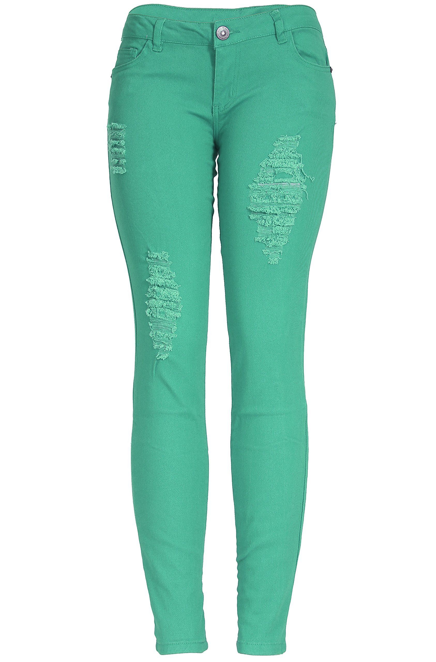f42fd4917e05 2LUV Women's Distressed Skinny Jeans at Amazon Women's Jeans store ...