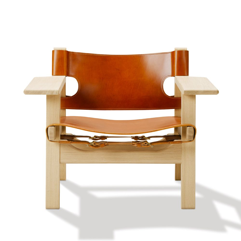 Den spanske stol - 2226 - Eg ubeh./cognac læder Pris: 25.990,00 kr ...