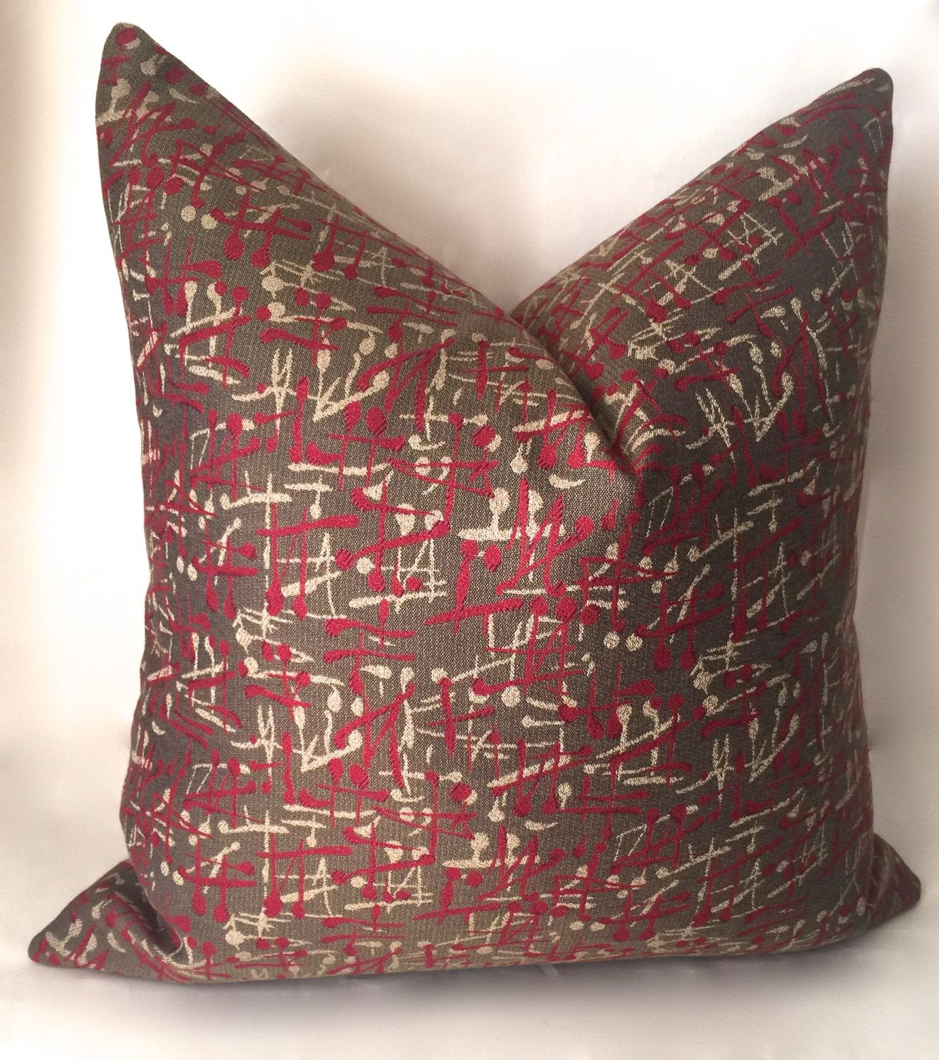 red accent pillows for sofa restoration hardware slipcover throw pillow cover gray beige decorative