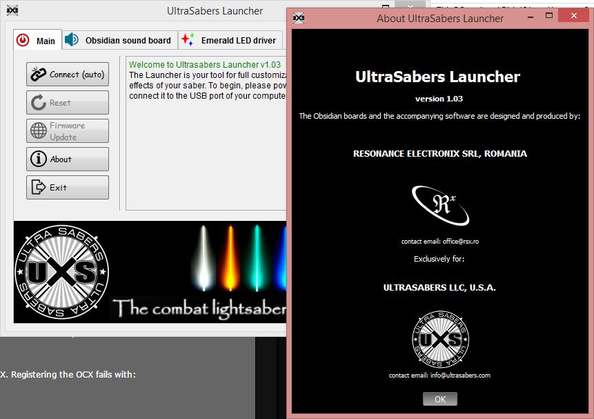 ultrasabers obsidian sound board launcher lightsabers pinterest