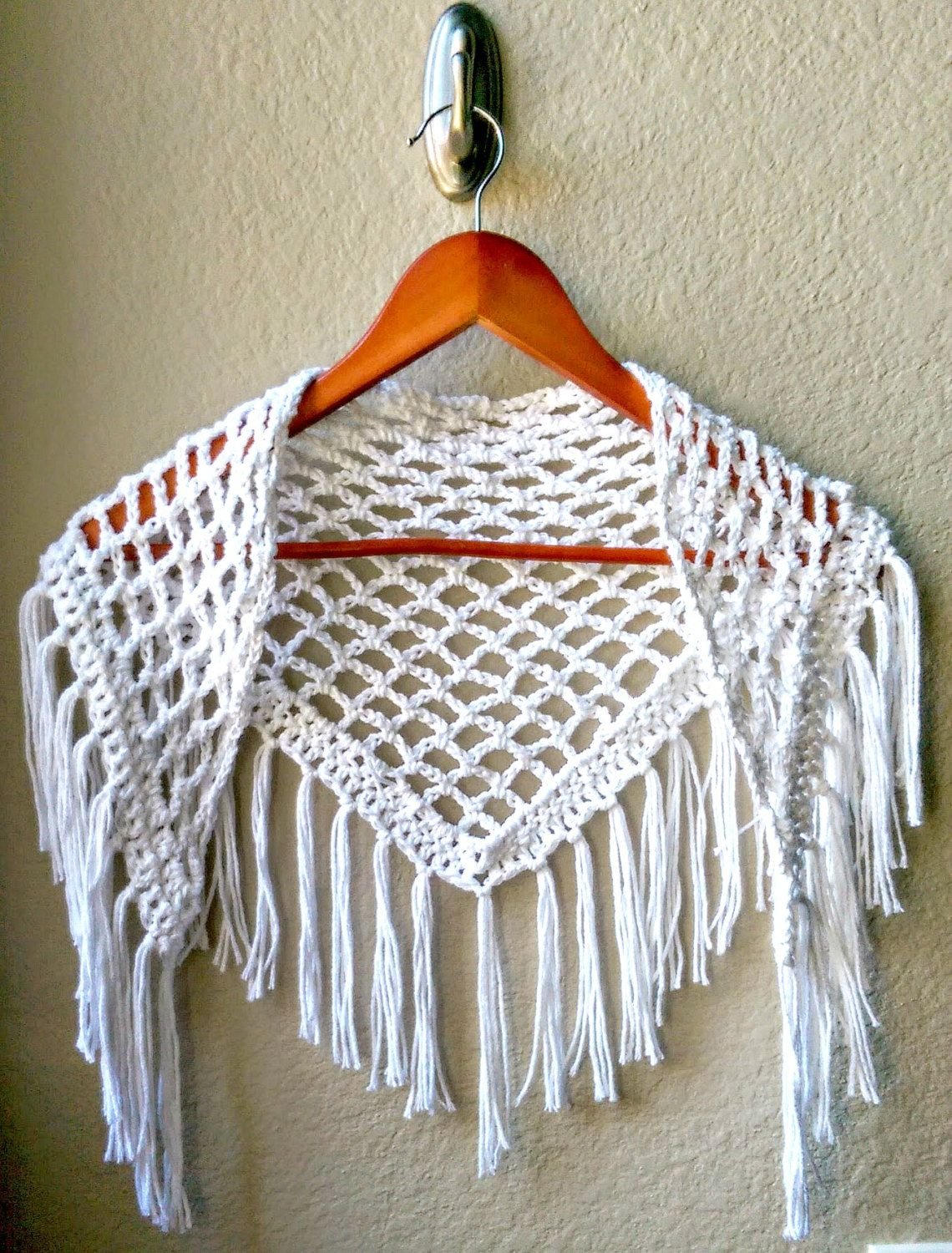 Crochet Scarf Pattern ONLY, Crochet Triangle Scarf Pattern, Fringe ...