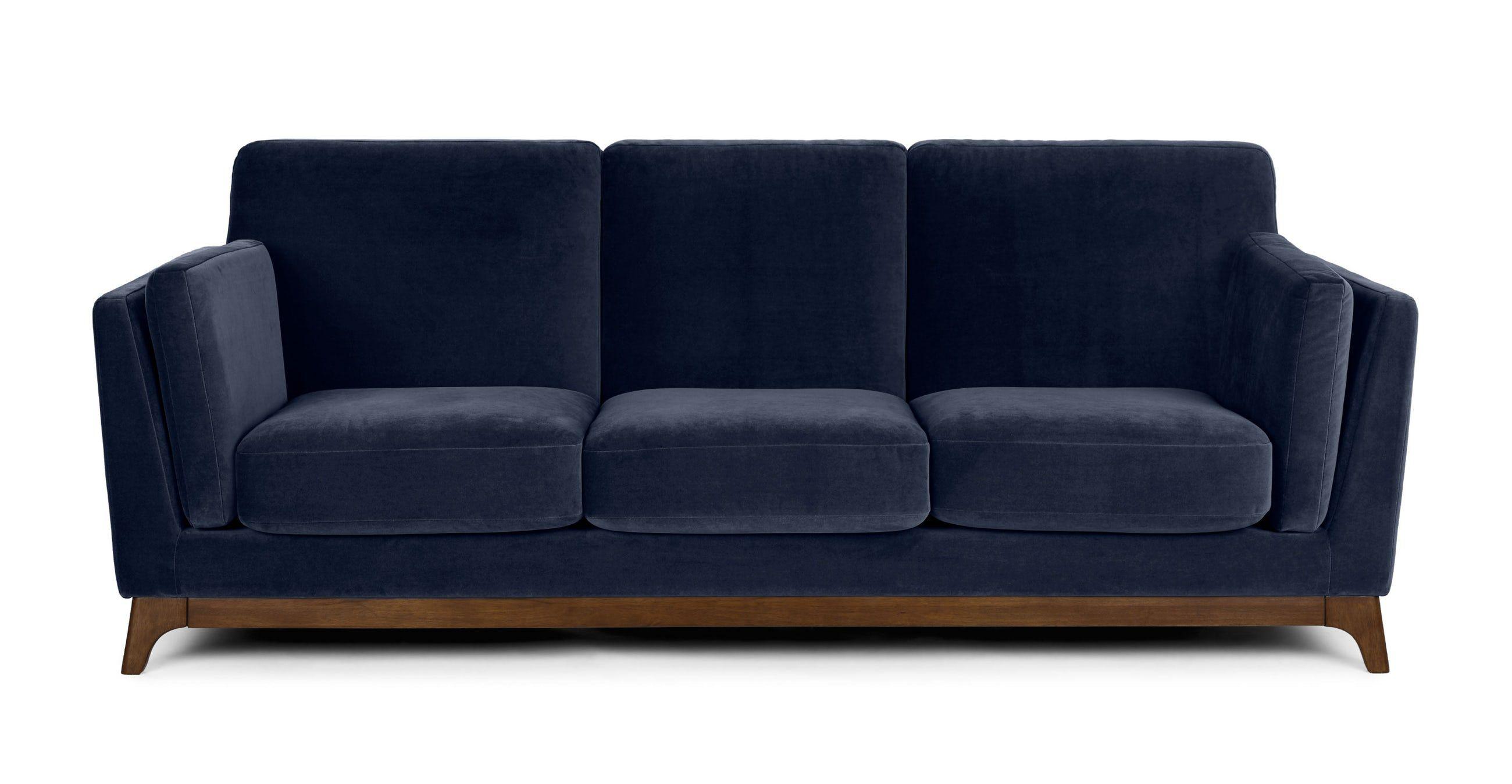 Ceni Maren Blue Sofa Blue Loveseat Mid Century Modern Sofa Sofa