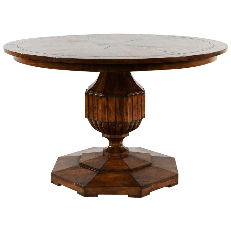 Vintage Round Pedestal Dining Table Vintage Dining Room Table Round Pedestal Dining Round Wooden Dining Table [ 1500 x 1500 Pixel ]