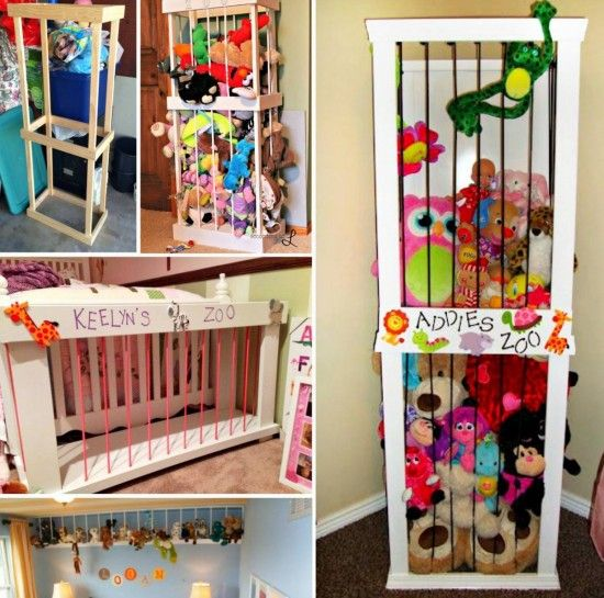 Stuffed Animal Zoo Storage Tutorial Kids Room Kids Crafts Learning Toy Rooms