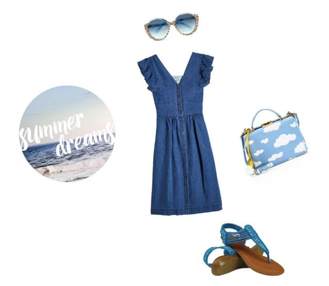 """""""Summer Dreams"""" by katieness ❤ liked on Polyvore featuring Sea, New York, Cutler and Gross and Mark Cross"""