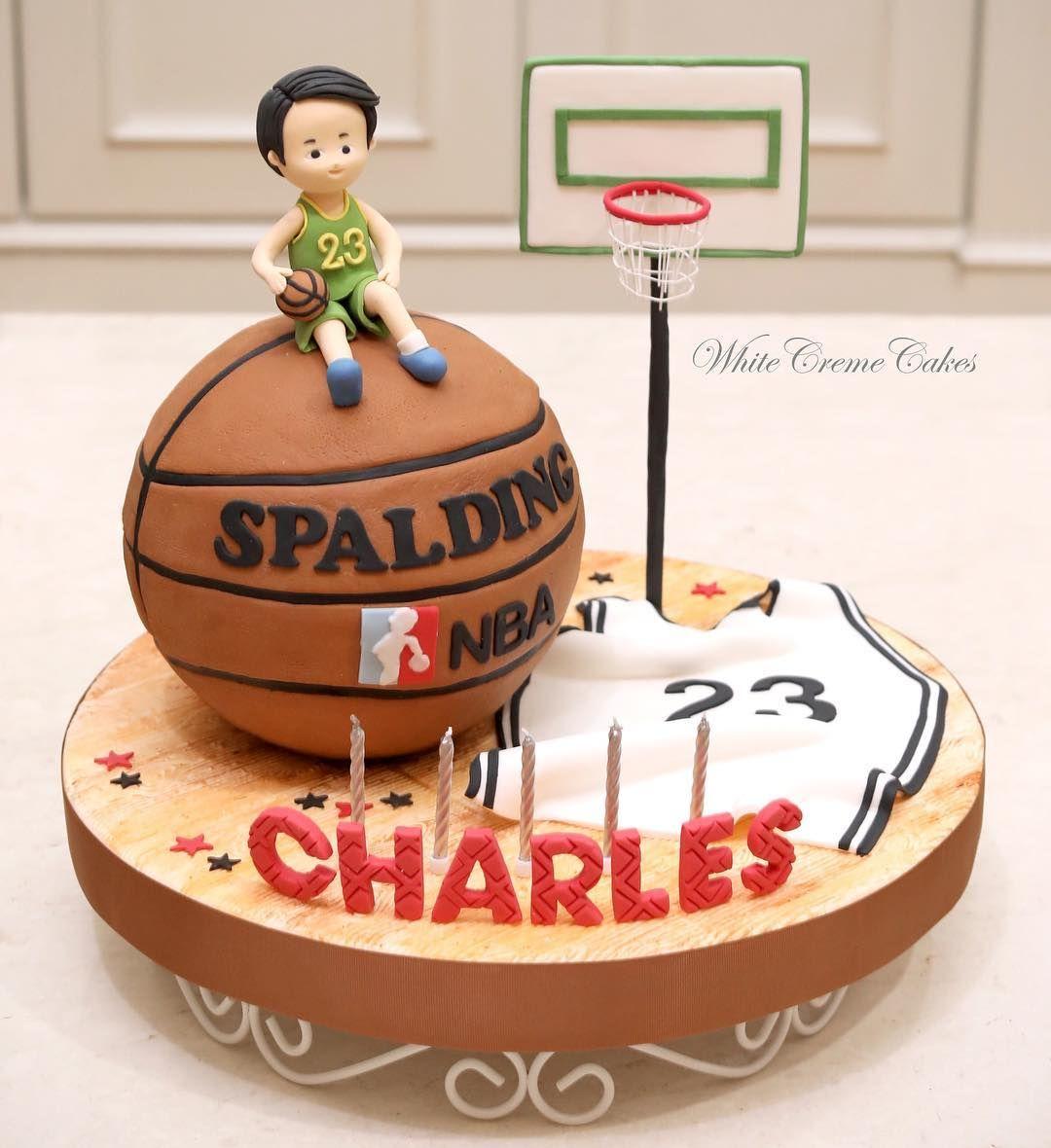 Strange Basketball Themed Cake For Charles Basketballcake Funny Birthday Cards Online Benoljebrpdamsfinfo