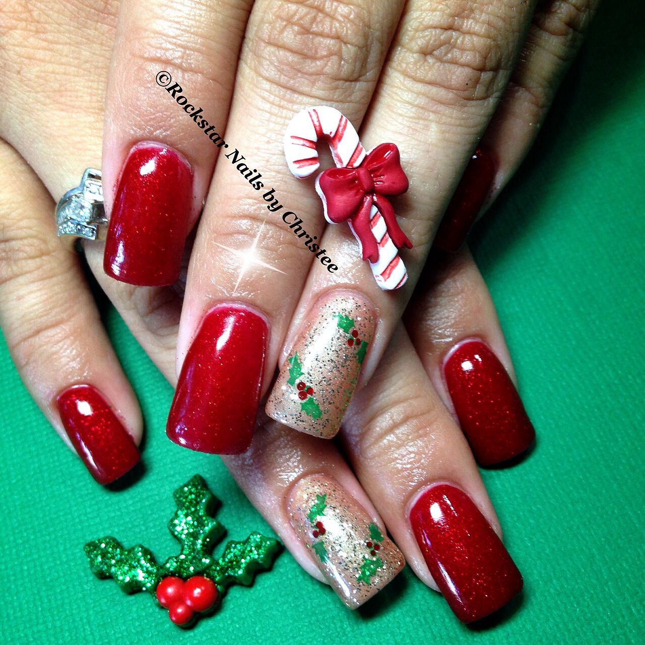 New Rockstar Acrylic Nail Designs: #rockstar_nails_by_christee #acrylic #acrylicnails