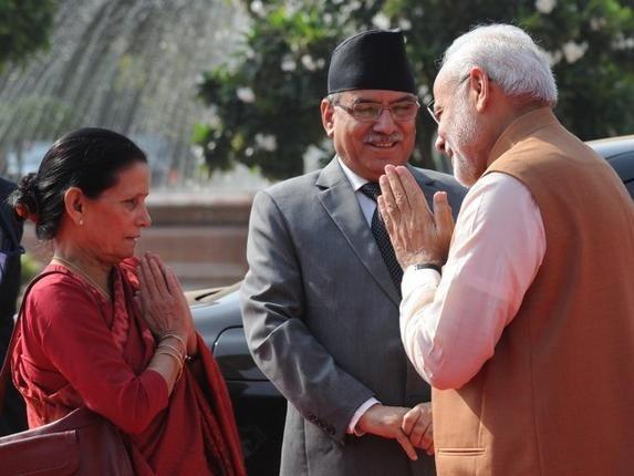 Nepali Pm Pushpa Kamal Dhal Prachanda Visit To India  Sep