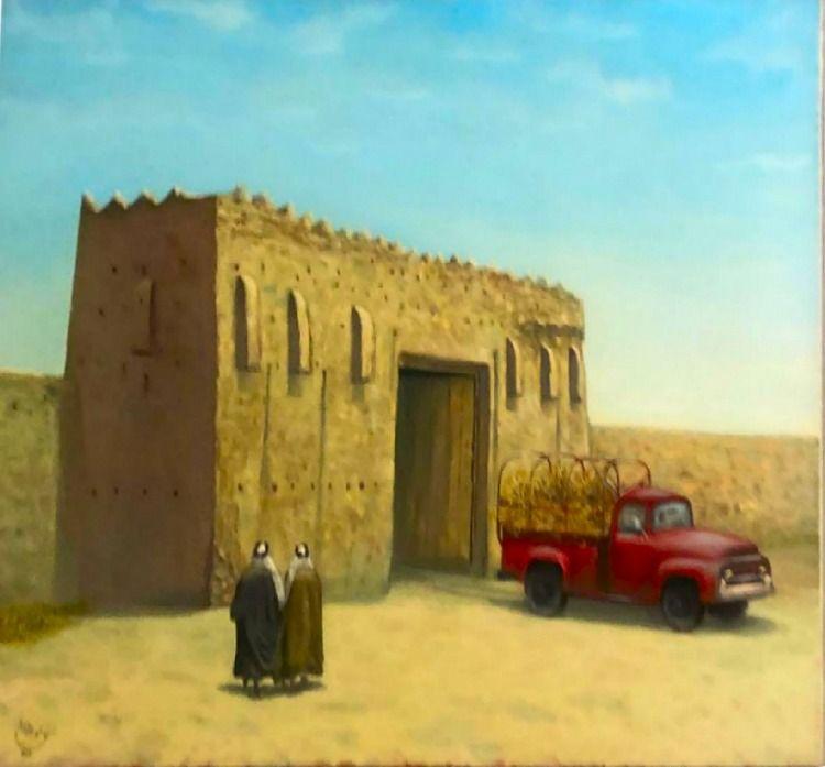 عمل للفنان نواف الأرملي Kuwait City Kuwait Art