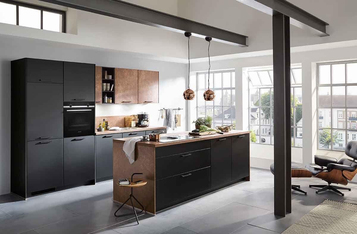 Küche Norina_2615-Alpinweiss-Ferro-Bronze | Küche | Pinterest ...