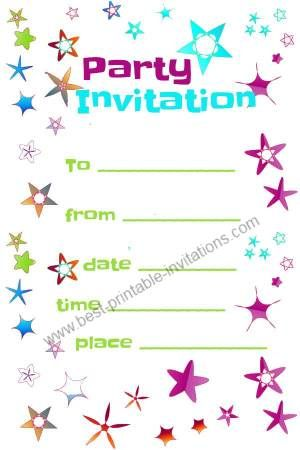 free party invitation printables