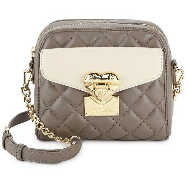 Love Moschino Women s Quilted Faux Leather Crossbody Bag ( 130) ❤ liked on  Polyvore featuring 0e0cfa0828cf8