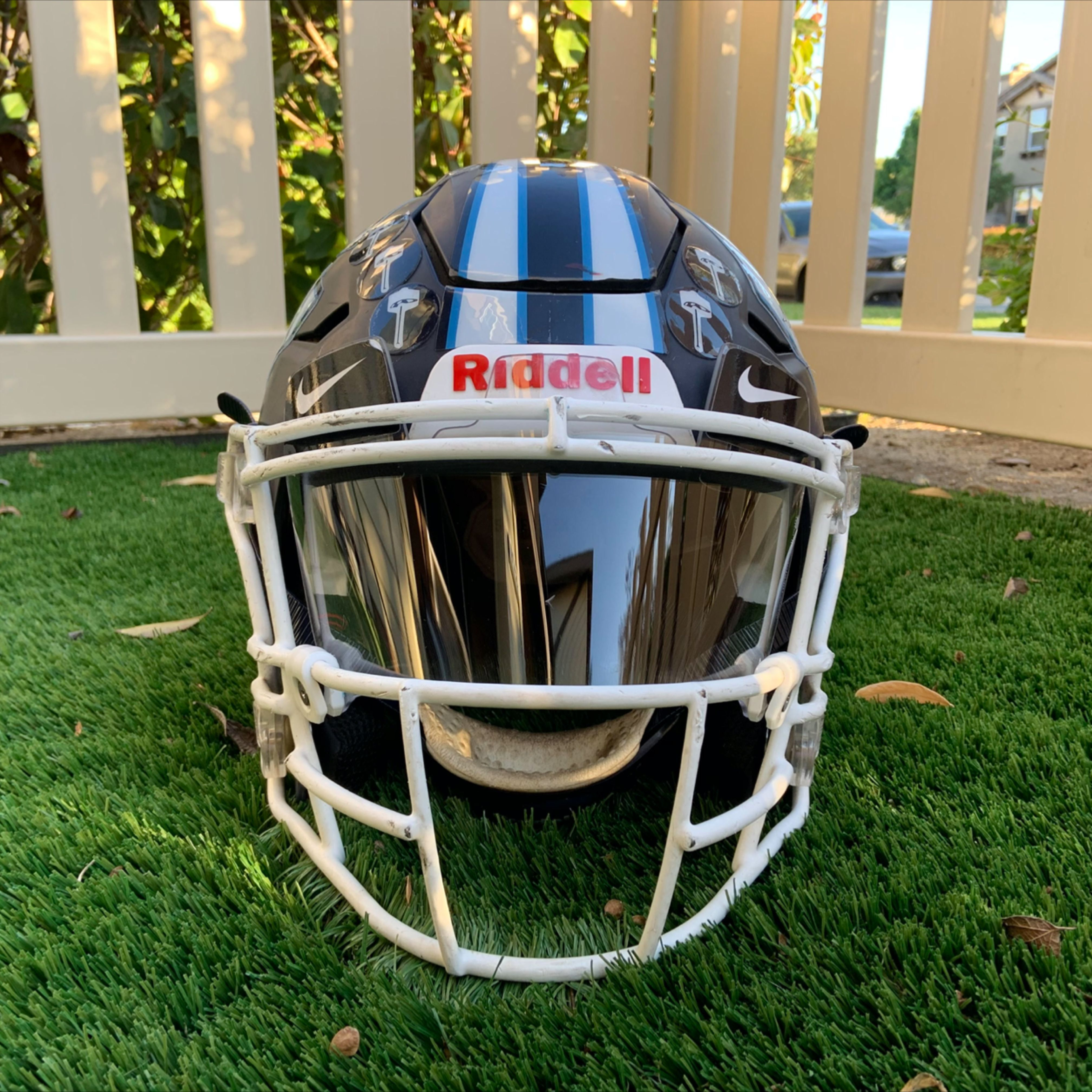 f7 football helmet visor