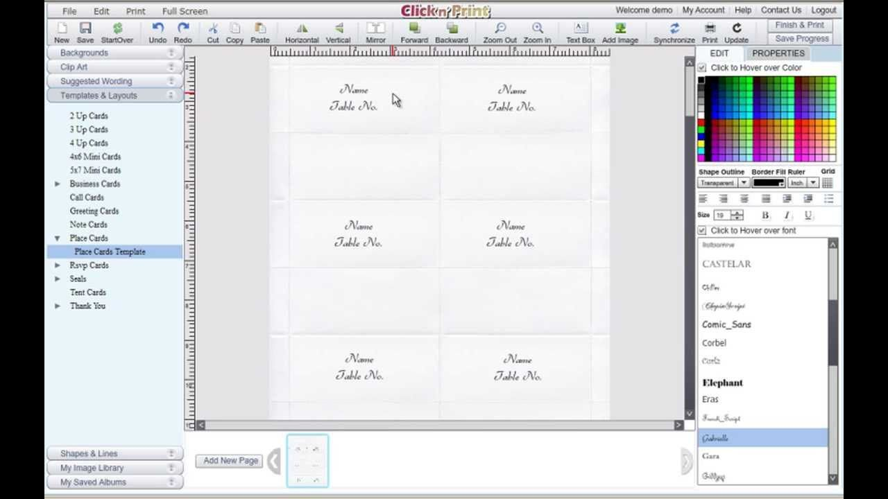 How To Make Place Cards And Rsvp Cards For Free Geographics With Microsoft Wor