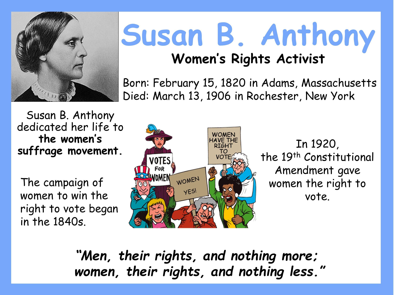 Susan B Anthony Poster