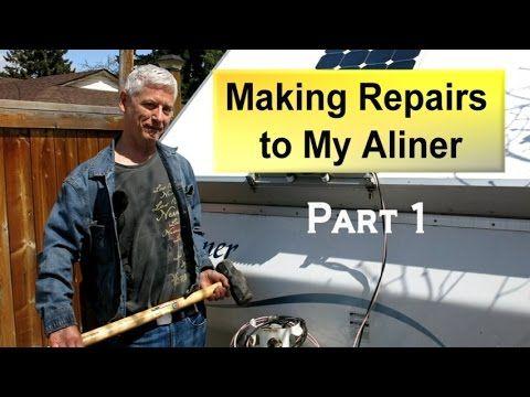 Reparing My Aliner Trailor Part 1 Assessing The Damage Youtube Aliner Campers A Frame Camper Camper Hacks
