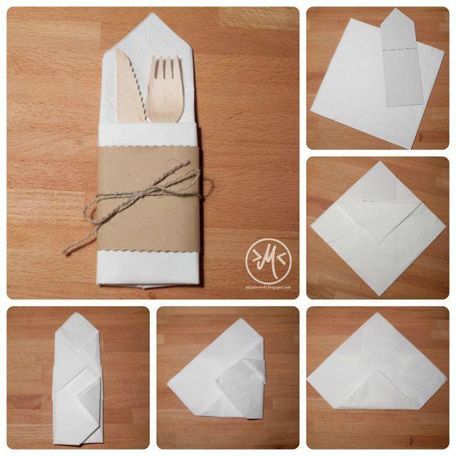 servietten zur bestecktasche falten how to fold a napkin. Black Bedroom Furniture Sets. Home Design Ideas