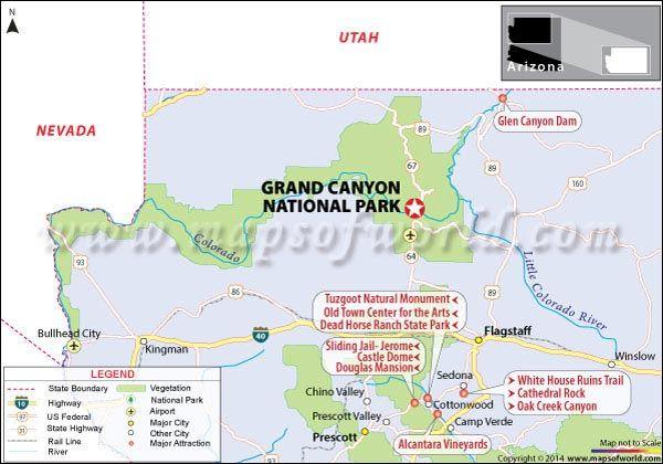 Grand Canyon National Park Map Bucket List Pinterest Grand