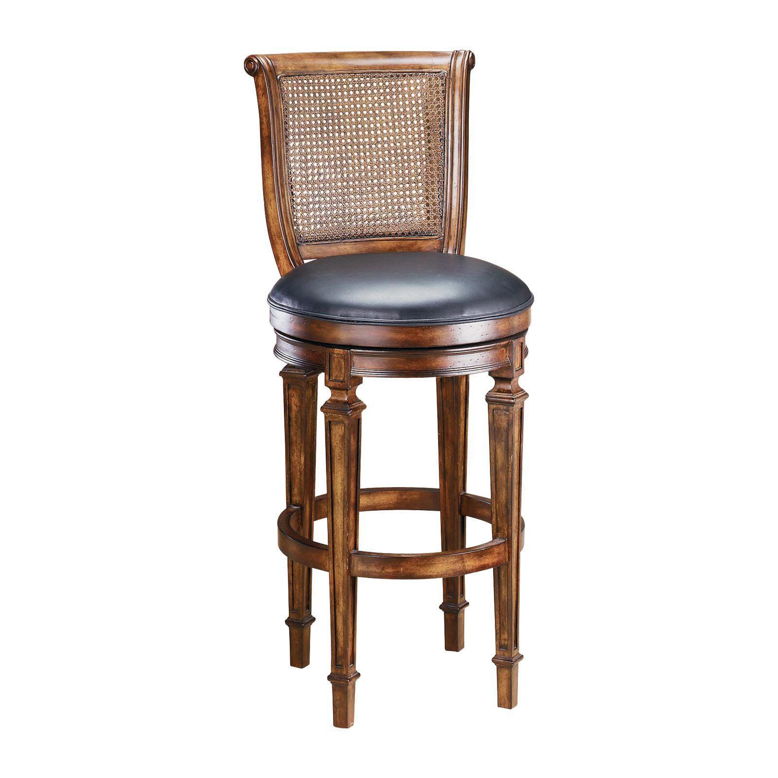 Hillsdale Dalton 30 In Cane Back Swivel Bar Stool From