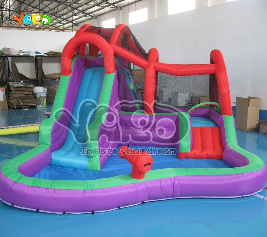 Water Slide Inflatable Water Park With Water Pool Inflatable Water Game Water Slides Inflatable Water Park Inflatable Pool