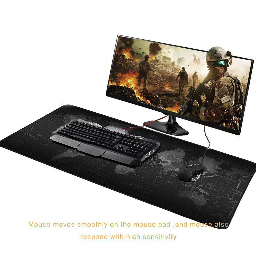 Office World Map Large Cloth Extended Rubber Gaming Mouse Desk Pad Mat Large XL
