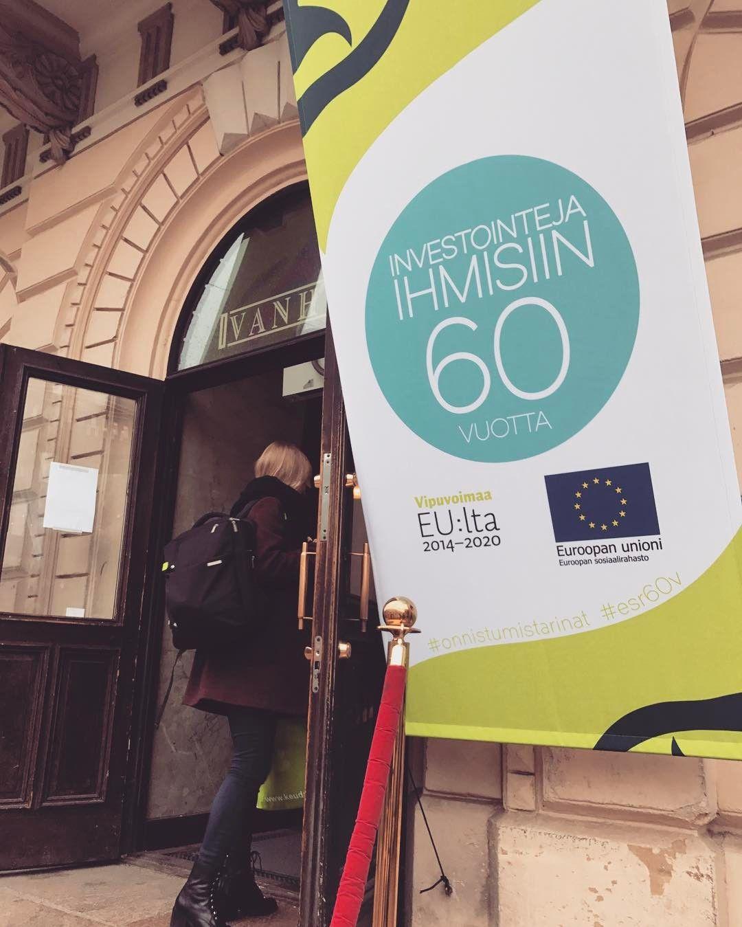 OpsoDiili tänään mukana ESR:n 60-vuotisjuhlassa. OpsoDiili-koordinaatiohankkeessa on mm. luotu Oppisopimus.fi-sivusto sekä edistetty valtakunnallista oppisopimusviestintää. #ESR60v #oppisopimus