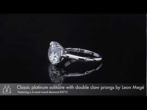 Classic Solitaire with 4 Carat Round Diamond by Leon Megé R5712