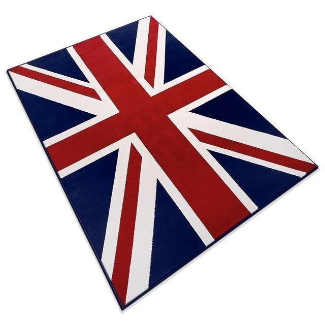 Union Jack Rug Union jack rug, Living room carpet, Door rugs