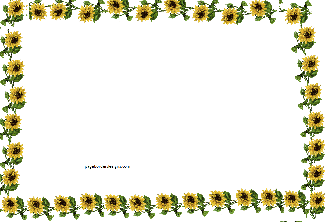 Sunflowers Border Design For Books Page Border 2016