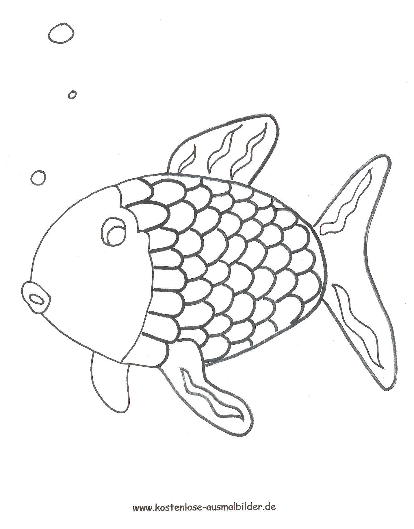 regenbogenfisch ausmalbild  window color vorlagen