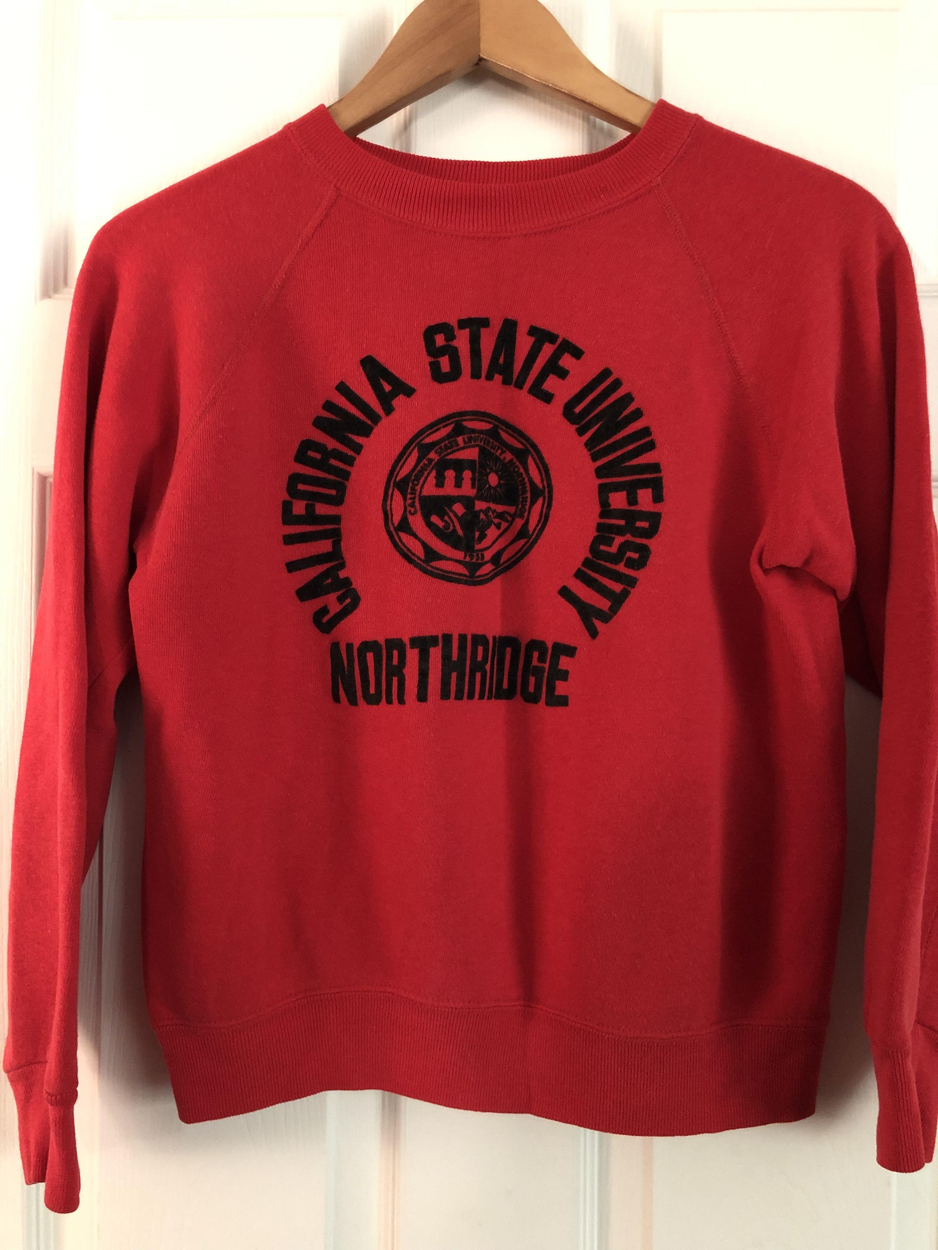 Sold Vintage California State University Northridge Sweatshirt Sweatshirts Vintage Sweatshirt Fleece Lined Hoodie [ 4032 x 3024 Pixel ]
